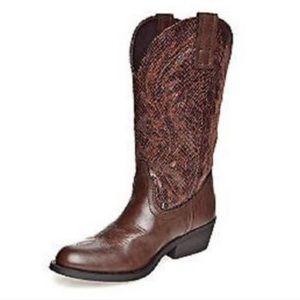 Rampage Walden snakeprint cowboy western boot
